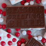 Homemade White Chocolate M&M Peppermint Candy Bars & Our Christmas Tradition