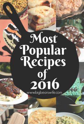 Top Recipes of - Most Popular Recipes of 2016