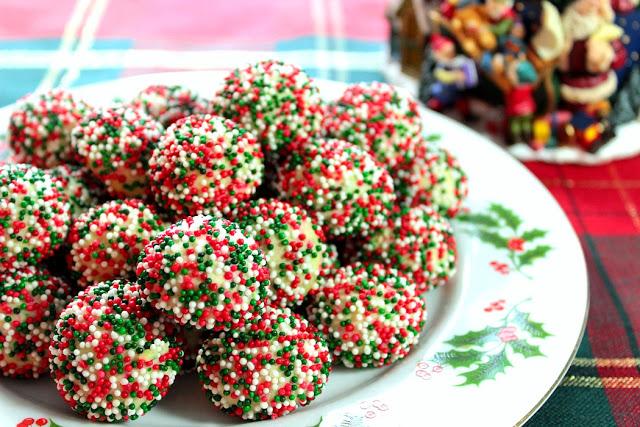 Christmas Cream Cheese Sprinkle Cookies