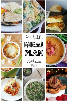 Meal Plan #2 for 2017
