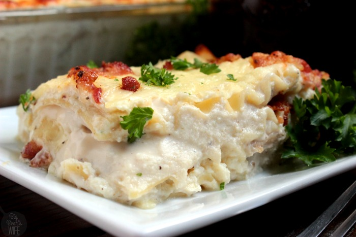 Chicken Bacon Alfredo Lasagna