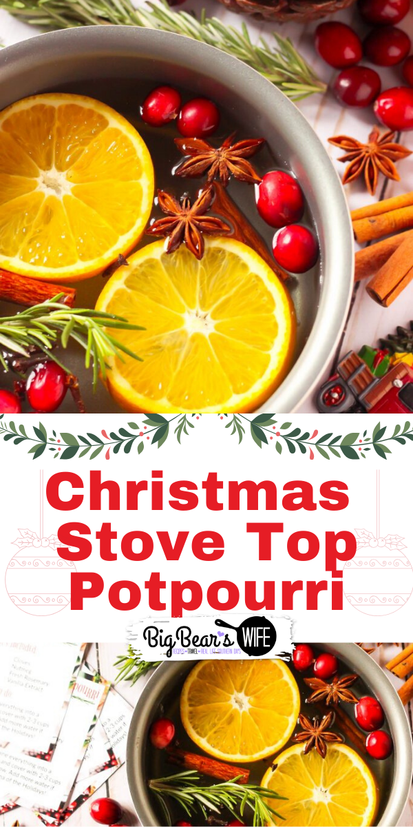 Christmas Stove Top Potpourri - It's beginning to look a lot like Christmas! This Christmas Stove Top Potpourri will fill your home with the aroma of the Holidays and it makes a wonderful Christmas gift for friends, family and neighbors! I've even got a free gift tag printable for you!