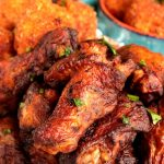 Cooked Perfect Premium Fire Grilled Zesty Herb and Spices Wings with Pimento Cheese Stuffed Fried Mashed Potato Bites
