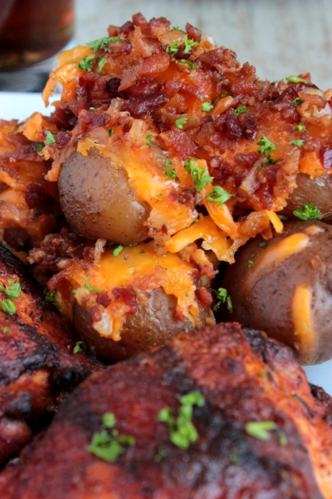 Thighs Bourbon BBQ with Slow Cooker Ranch Potatoes