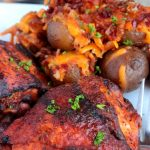 Cooked Perfect Thighs with Premium Fire Grilled Bourbon BBQ Chicken Slow Cooker Ranch Potatoes