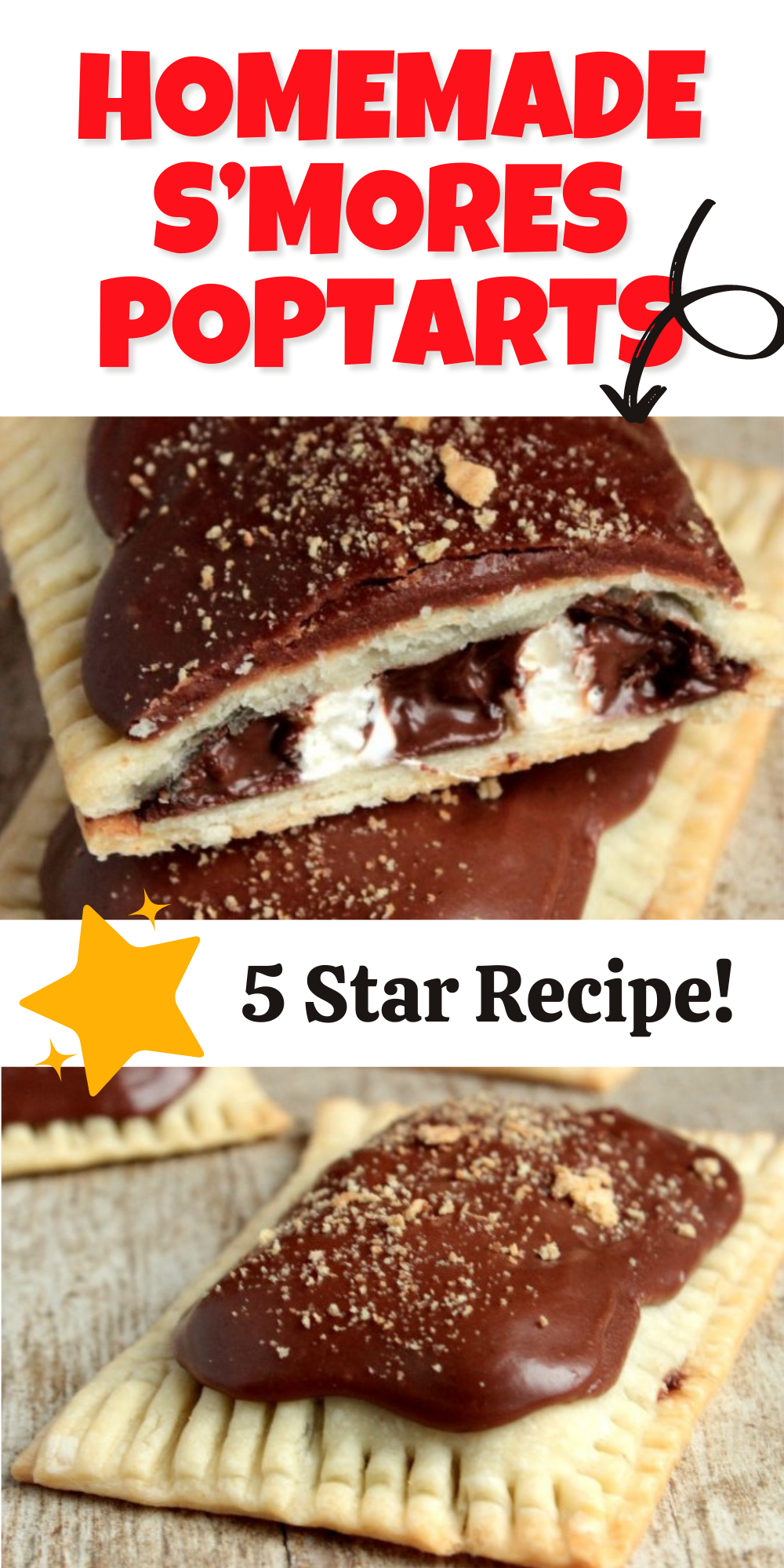 Love the S'more Poptarts that you buy at the store? If you love those, you're going to fall head over heels for these Homemade S'mores Poptarts! Plus they have so much more filling than the store bought ones!