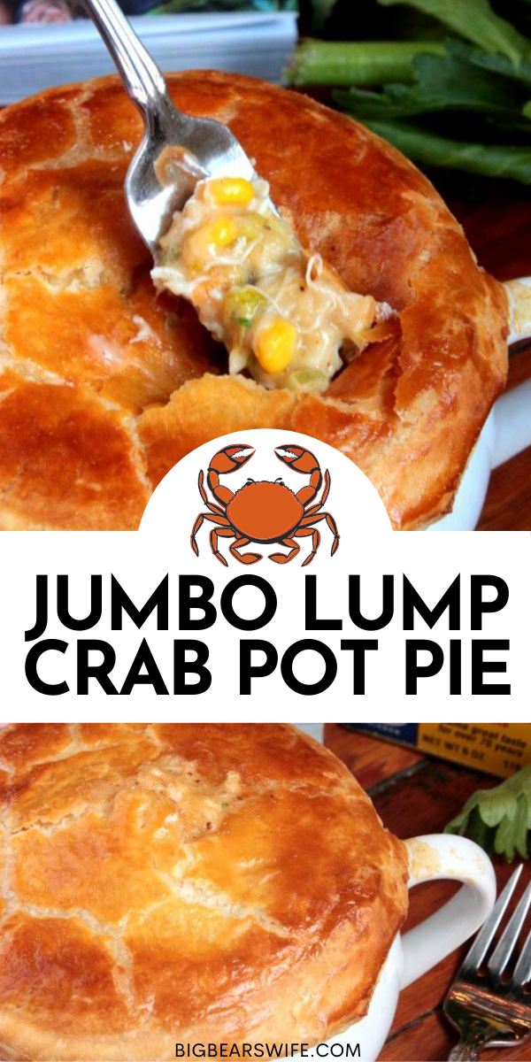 The Jumbo Lump Crab Pot Piefrom The Gourmet Kitchen Cookbook by Jennifer Farley may be one of the best pot pies that's ever come out of my kitchen. via @bigbearswife