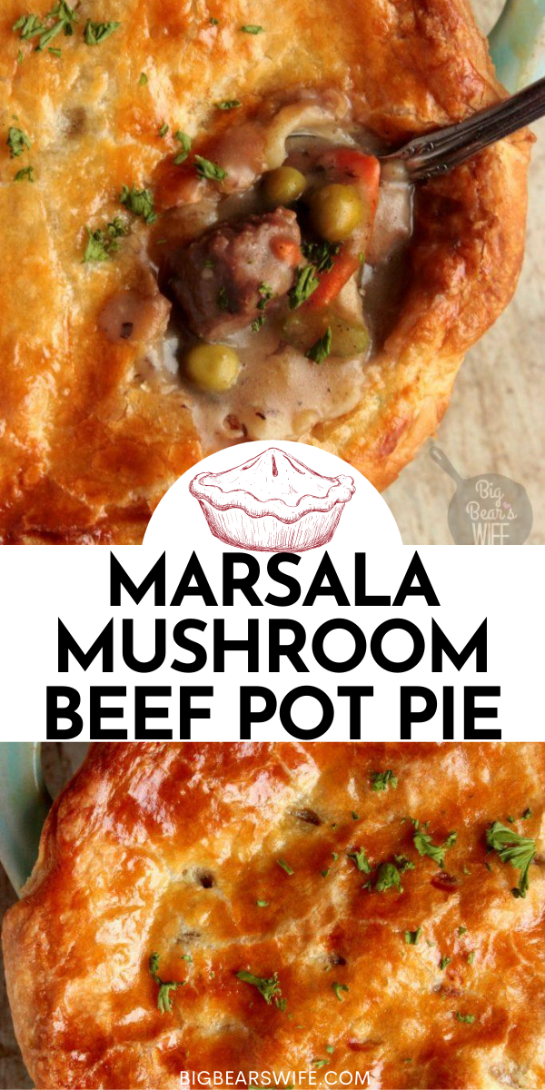 This Marsala Mushroom Beef Pot Pie is the ultimate comfort food. It's made with fresh ingredients and locally raised beef. Plus I've got a little look into Baldwin Farms on the blog today too! via @bigbearswife