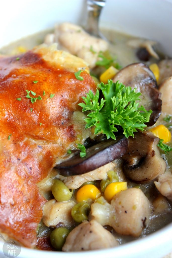 Marsala Chicken Skillet Pot Pie