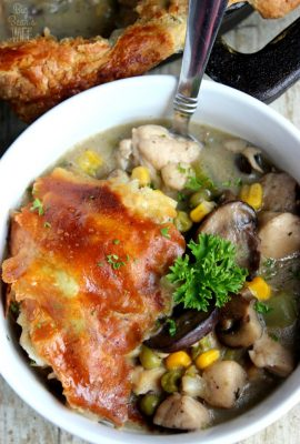 Marsala Chicken Skillet Pot Pie