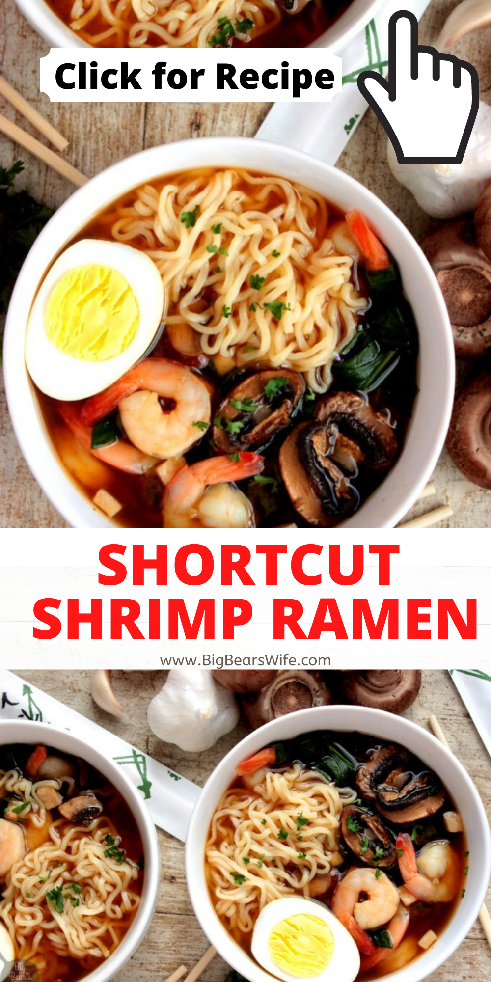 This Shortcut Shrimp Ramen is my favorite way to recreate ramen at home! The flavor is so good and in about 30 minutes you'll have delicious ramen. via @bigbearswife
