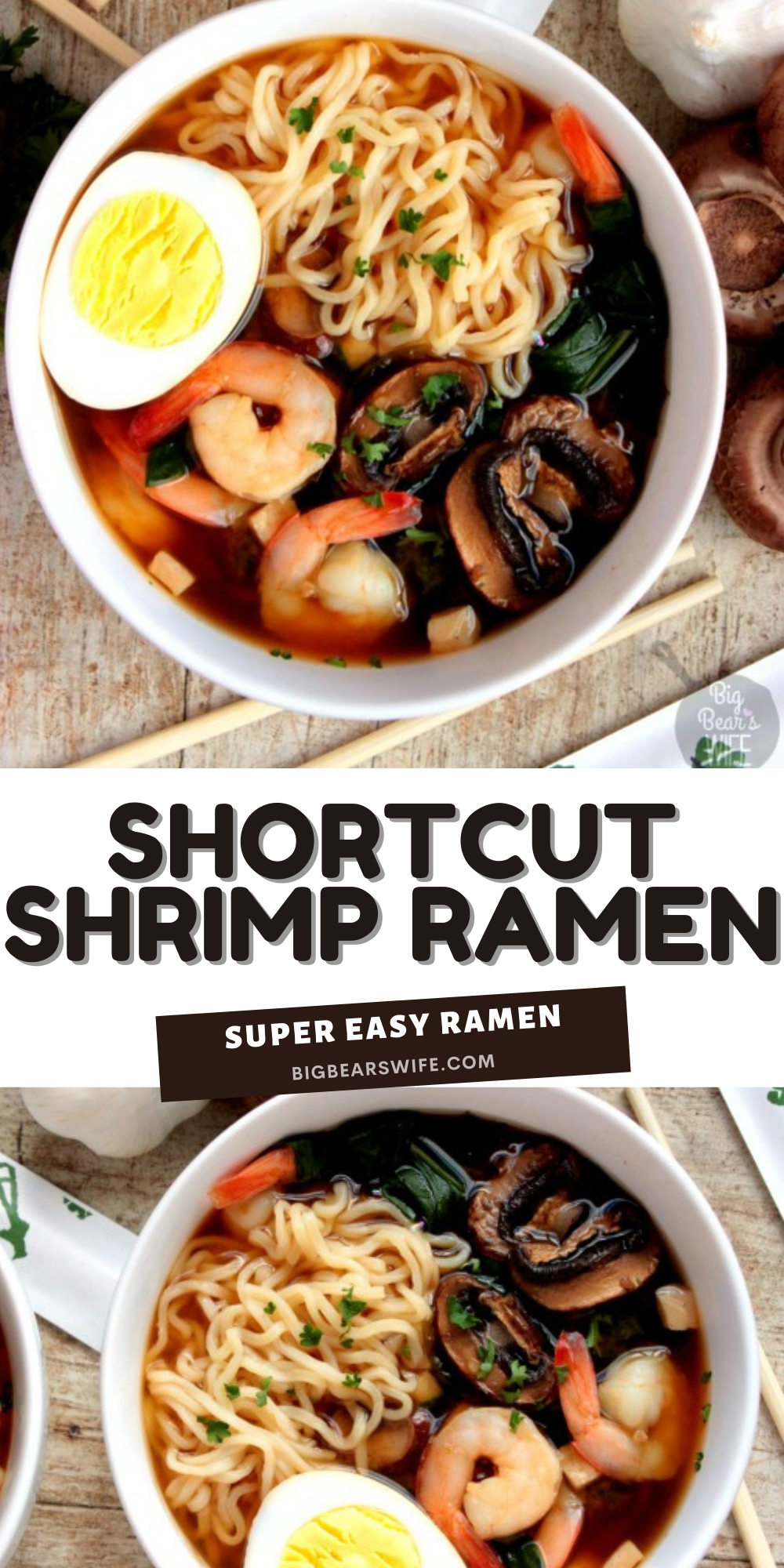 This Shortcut Shrimp Ramen is my favorite way to recreate ramen at home! The flavor is so good and in about 30 minutes you'll have delicious ramen.