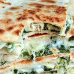 Spinach and Artichoke Chicken Quesadillas