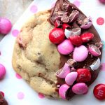 Chocolate Dipped Chocolate Chip M&M Cookies