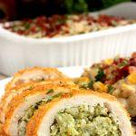 Creamy Confetti Corn and Rice and Barber Foods Broccoli & Cheese Stuffed Chicken