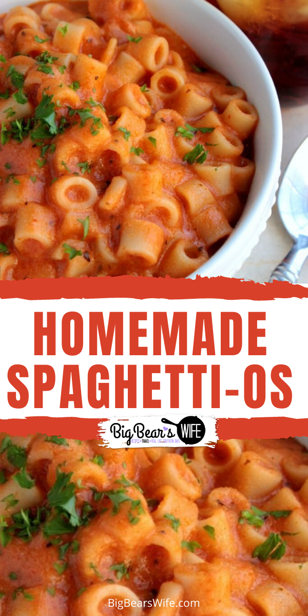 Homemade Spaghetti-Os - If you lovedSpaghetti-Os as a kid, you're going to want to print out this recipe for Homemade Spaghetti-Os and make it for dinner soon! via @bigbearswife