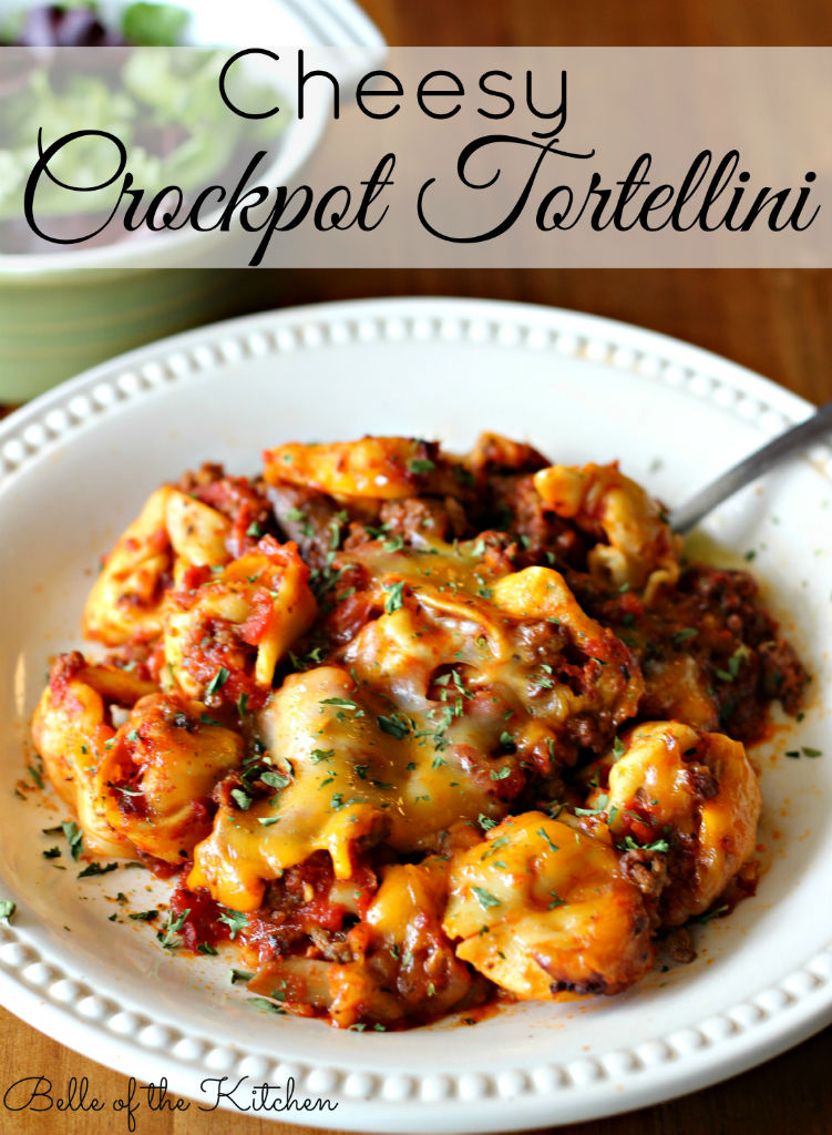 Belle of the Kitchen: Cheesy Crockpot Tortellini