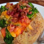 Ready for a dinner that can be ready in about 45 minutes or less? You can stuff these Loaded Chicken Stuffed Potatoes with any veggies you want!!!
