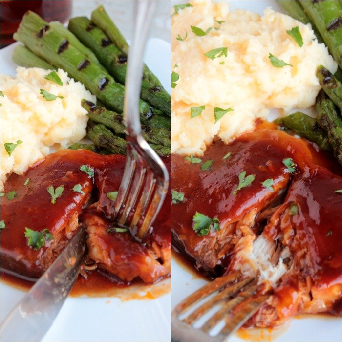 Slow Cooker BBQ Pork Chops #SundaySupper