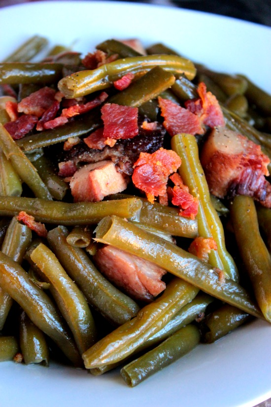 Slow Cooked Southern Style Green Beans - Southern String Beans