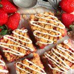 Strawberry Cream Streusel Bars