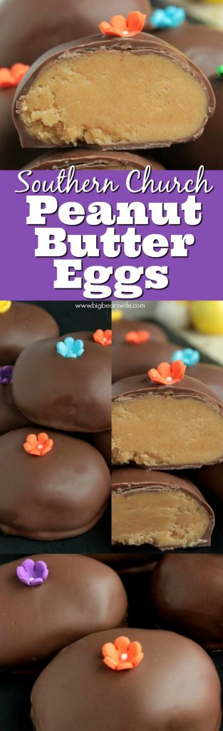 Love the Chocolate Peanut Butter Eggs that churches make around Easter time? These Southern Church Peanut Butter Eggs are just like those, they're perfect and taste amazing!