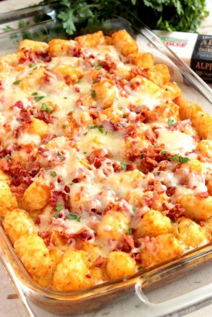 Breakfast Loaded Tater Tot Casserole Brunchweek Big Bear S Wife