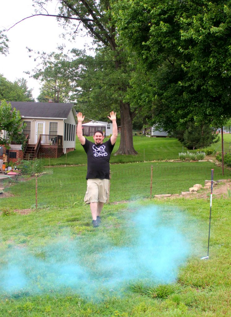 Color Powder Gender Reveal >> Putters or Pearls Gender Reveal Party - Baby Barrett is a ...