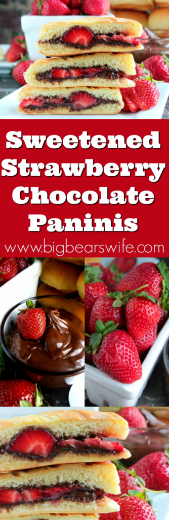 Sweetened Strawberry Chocolate Paninis