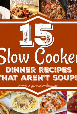 15 Slow Cooker Dinner Recipes that aren't soup!