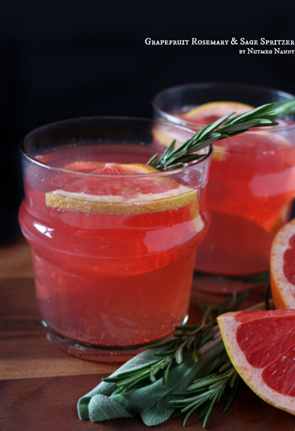 Grapefruit Rosemary and Sage Spritzer by Nutmeg Nanny