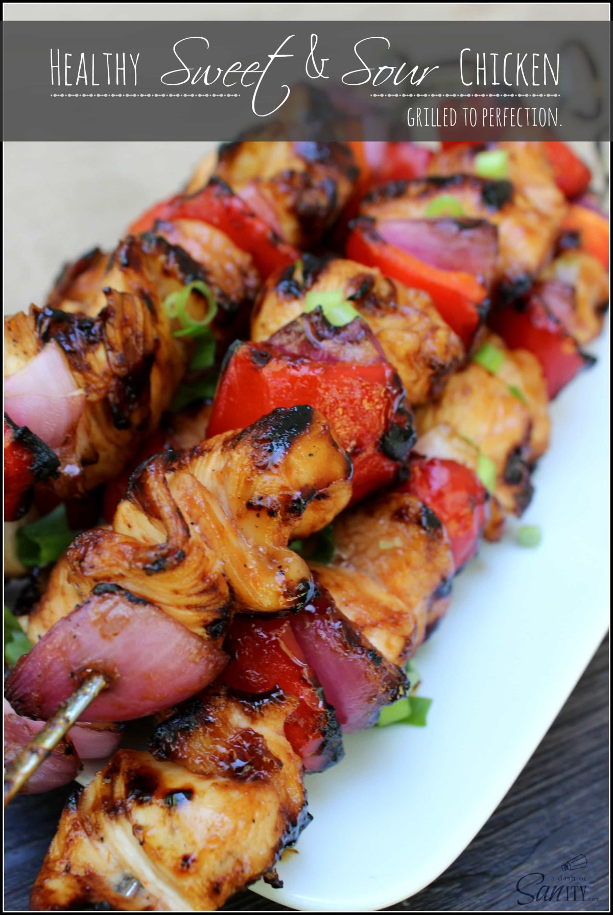 Healthy Sweet & Sour Chicken | Grilled to perfection.