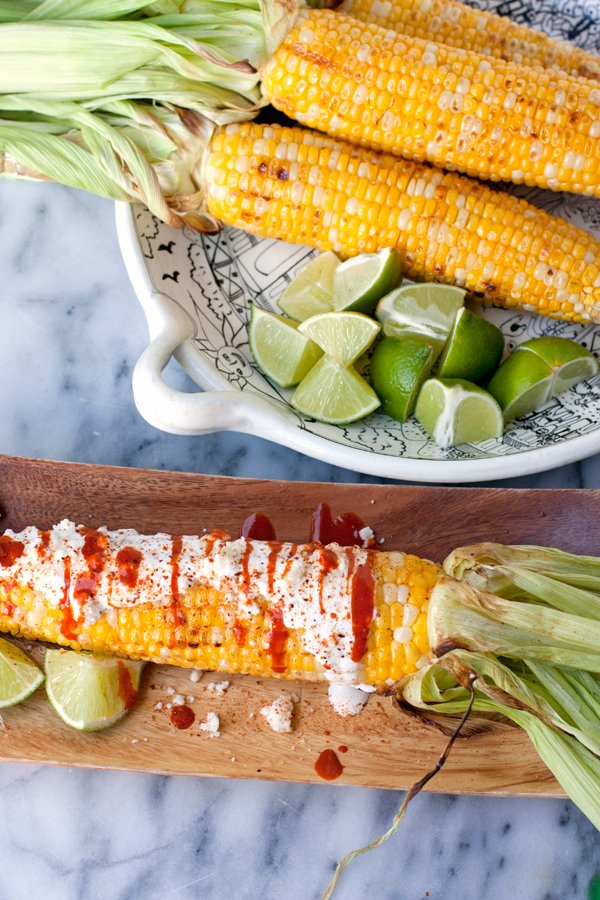 Mexican street corn on the cob
