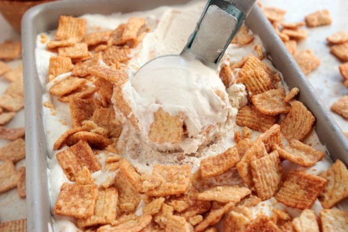 No Churn Cinnamon Toast Ice Cream