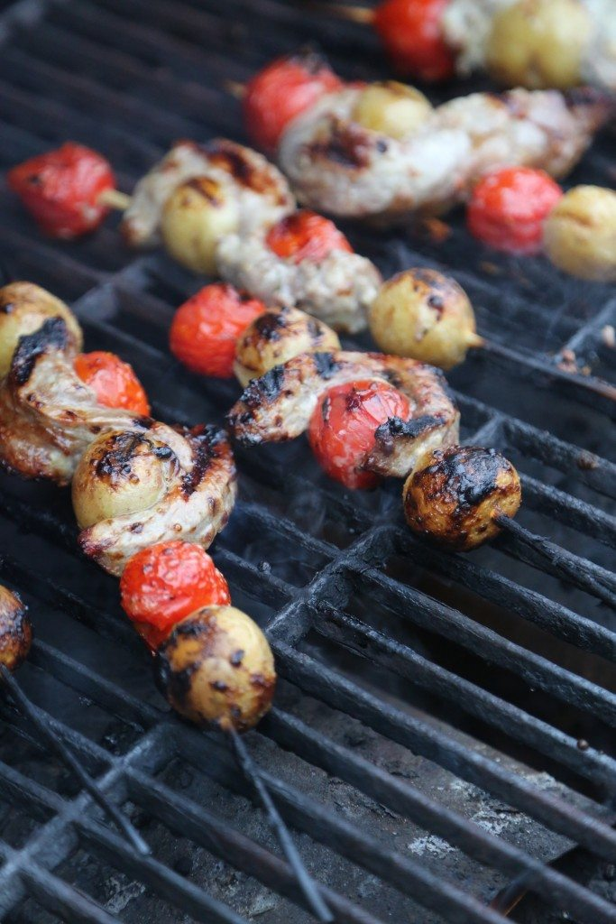Ranch Steak Kabobs on the Barbecue