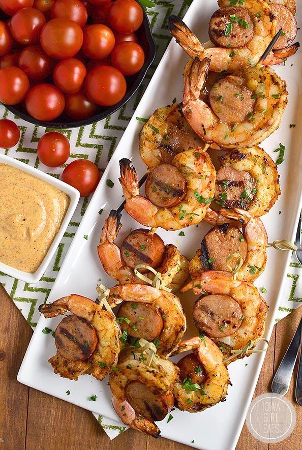 recipe: easy steak and shrimp kabobs [11]