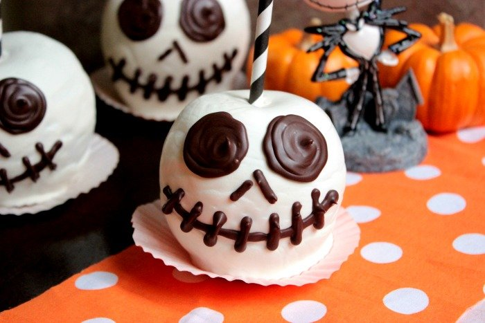 Jack Skellington Chocolate Apples