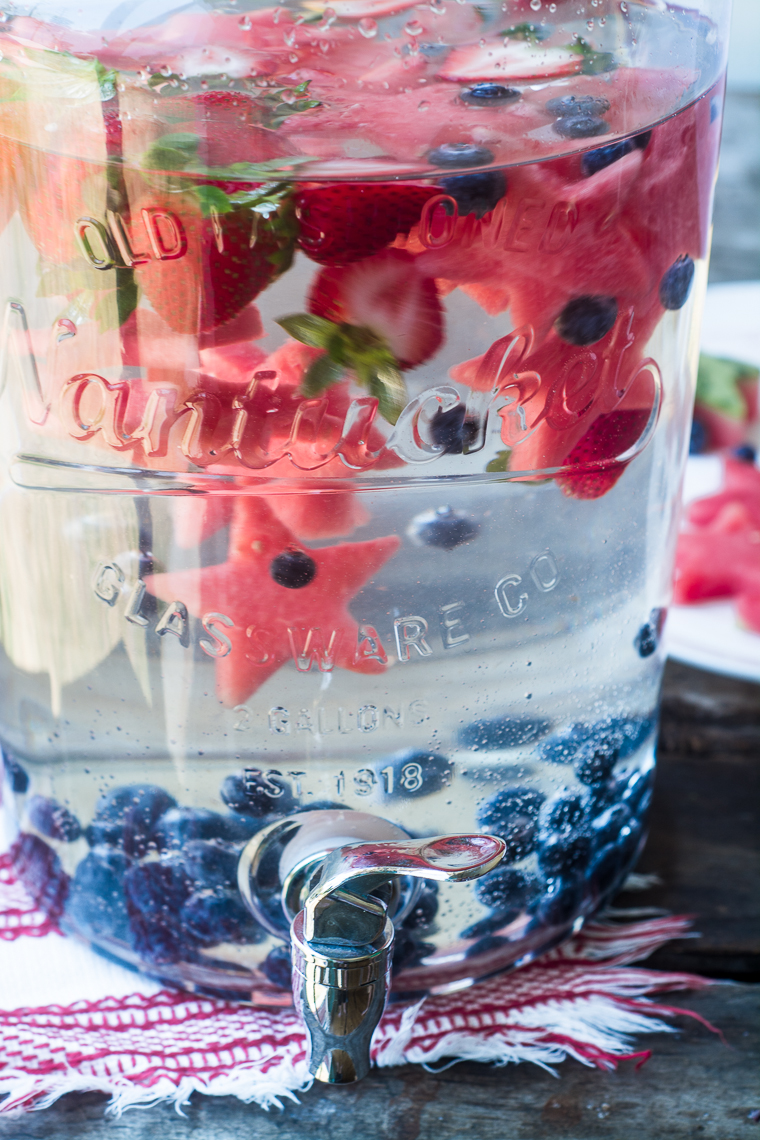 Star Spangled Fruit Infused Water