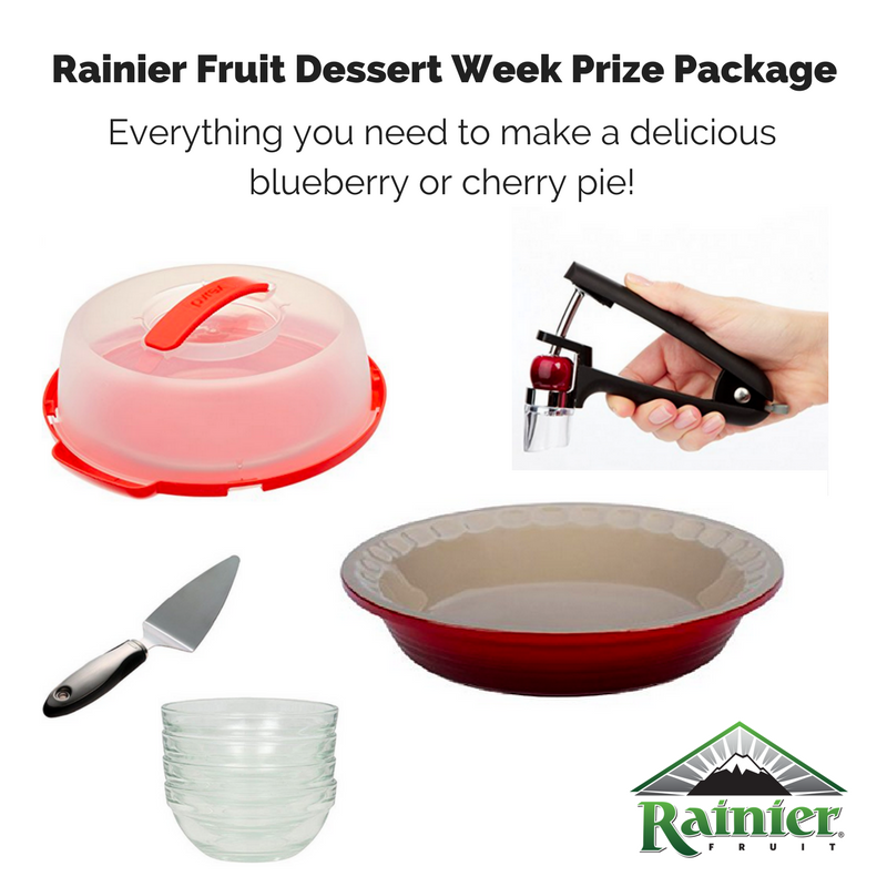 Rainier Fruit Dessert Week Prize Package collage.