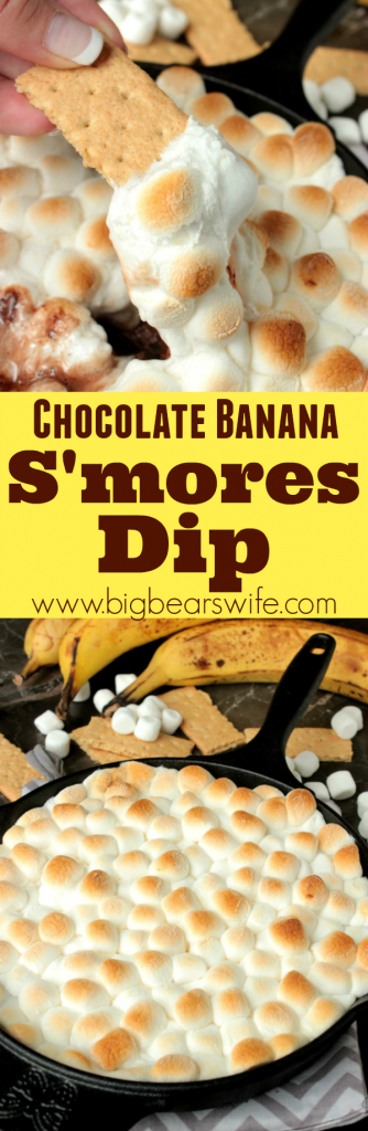 Chocolate Banana S'mores Dip