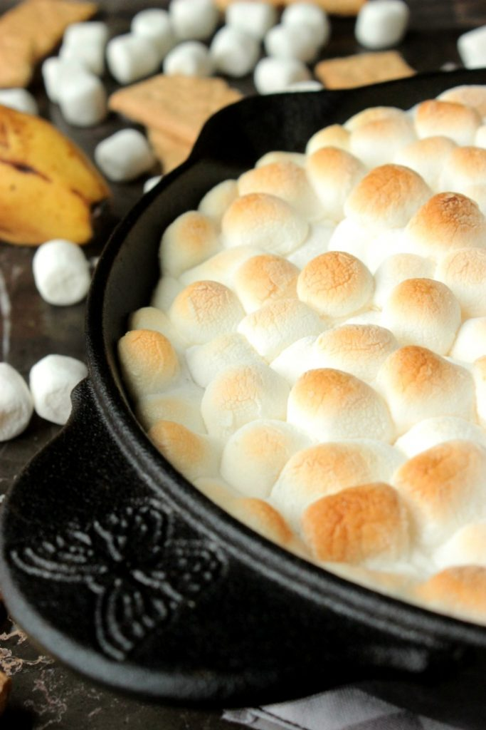 Chocolate Banana Smores Dip