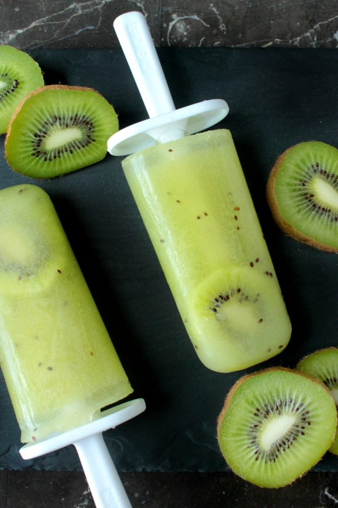 Fresh Kiwi Ice Pops - Ready for a super easy frozen treat to help you cool off this summer? These 3-ingredient Fresh Kiwi Ice Pops are made with fresh kiwis and sweetened with just a touch of sugar.