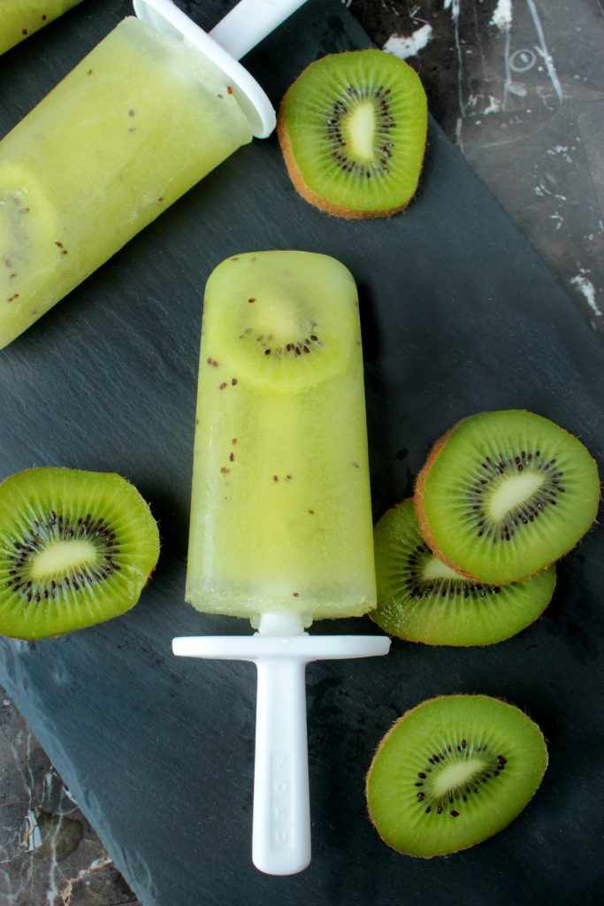 Fresh Kiwi Ice Pops