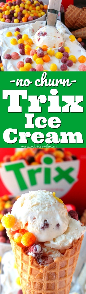 No Churn Trix Ice Cream