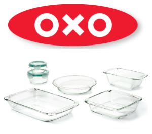 OXO baking dishes.