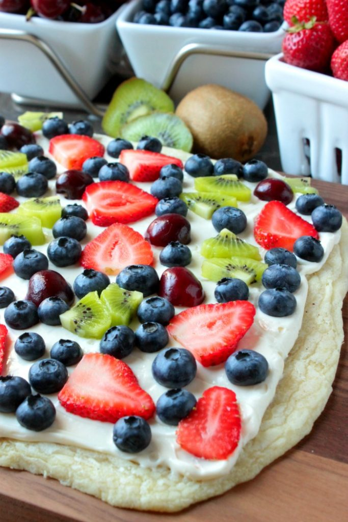 Summer Fruit Dessert Pizza