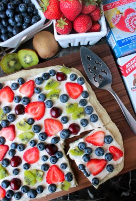 Summer Fruit Dessert Pizza #SummerDessertWeek