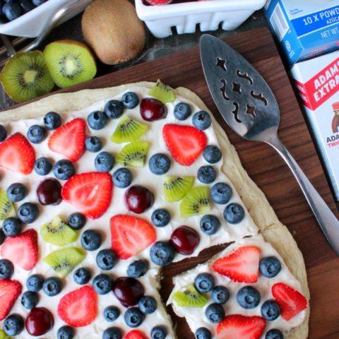 Summer Fruit Dessert Pizza