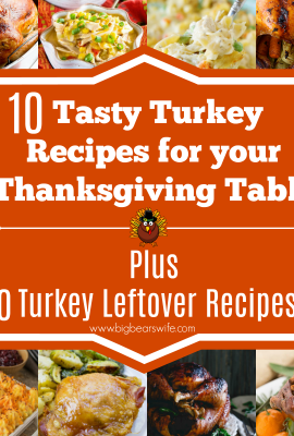 10 Tasty Turkey Recipes for your Thanksgiving Table Plus 10 Turkey Leftover Recipes- Looking for a recipe for your Thanksgiving Turkey? Here are 10 Tasty Turkey Recipes for your Thanksgiving Table Plus 10 Turkey Leftover Recipes for you to use after Thanksgiving!