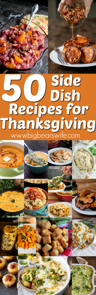 What's a Thanksgiving day meal without all of the side dishes! If you're wondering which side dishes to make this year, we've got 50 Thanksgiving Side Dish Recipes here to help you decide!